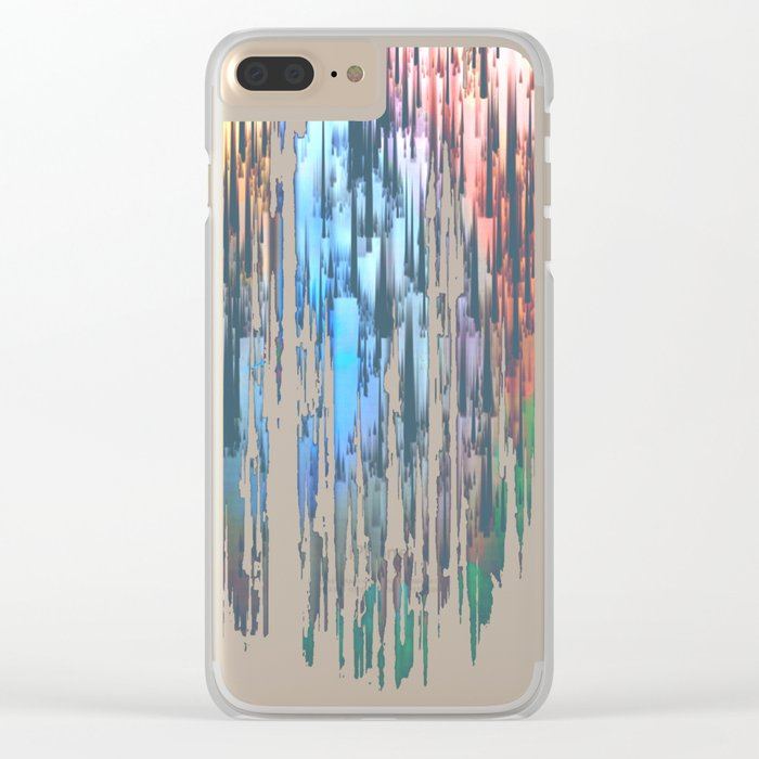 Raining Colors Clear iPhone Case