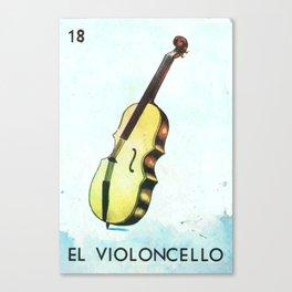 El Violoncello Canvas Print