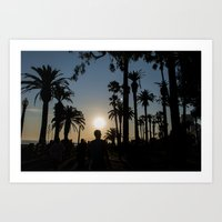 LA Sunset Art Print