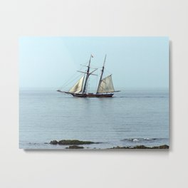Tall ship Sails by Metal Print