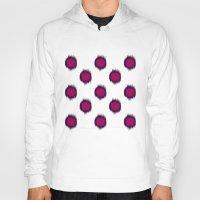 ikat Hoodies featuring Ikat Dots Raspberry Plum by Jacqueline Maldonado