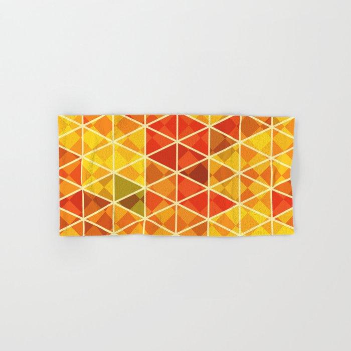 Sunset pattern wall art Hand & Bath Towel