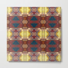 New Color Pyramidal Mandala 72 - Pattern 2 Metal Print