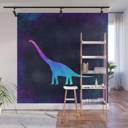 BRACHIOSAURUS IN SPACE // Animal Graphic Art // Watercolor Canvas Painting // Modern Minimal Cute Wall Mural