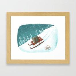 sled post Framed Art Print
