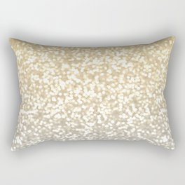 Gold and Silver Glitter Ombre Rectangular Pillow
