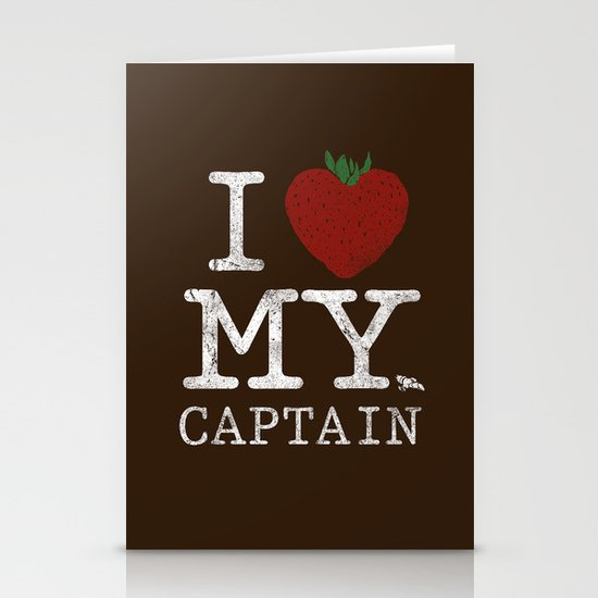 I Love My Captain Stationery Cards