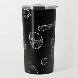 Absorbed Orbs (Black and White) Travel Mug