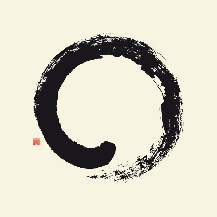 Enso / Japanese Zen Circle Duvet Cover By Thothadan