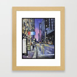 Evening Lights of the Burgh Framed Art Print