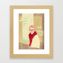 """oh my dear friend"" Framed Art Print"