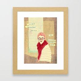"""oh my dear friend"" Framed Art Print"