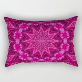 Hot Pink and Thorny Rectangular Pillow