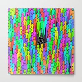 Crowded Isolation Metal Print