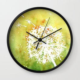 Dandelion Wishes Wall Clock