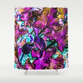 LIEVES FUXIA Shower Curtain