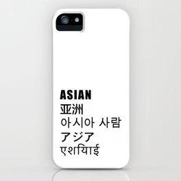 ASIAN iPhone Case