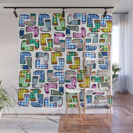 Colorful socks pattern Wall Mural