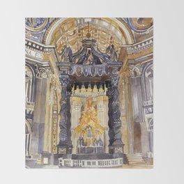 Saint Peter interior Throw Blanket