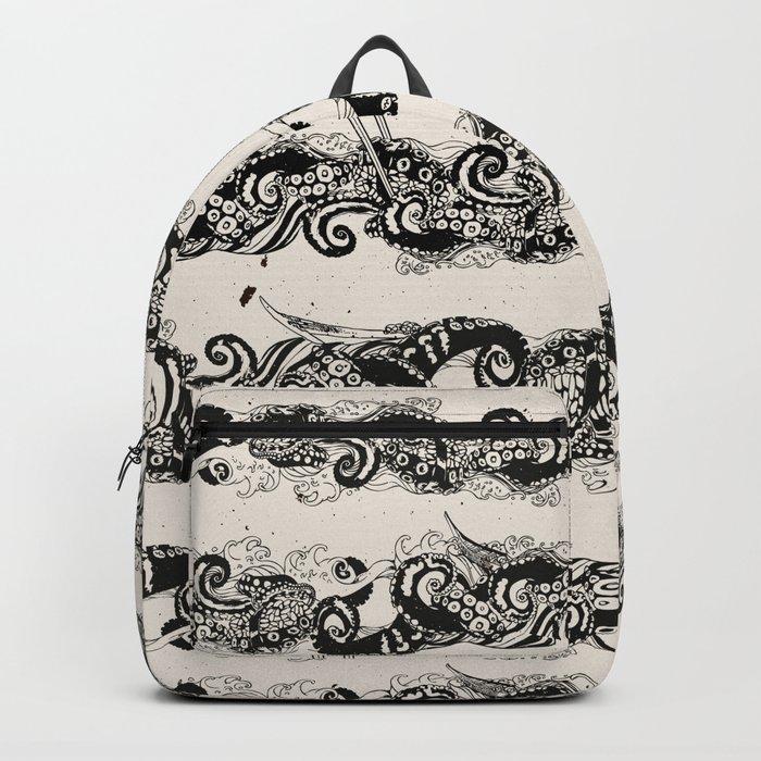 Ocean Sushi Stripe Backpack