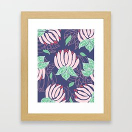 Blush Bloom Peony Lavender Framed Art Print