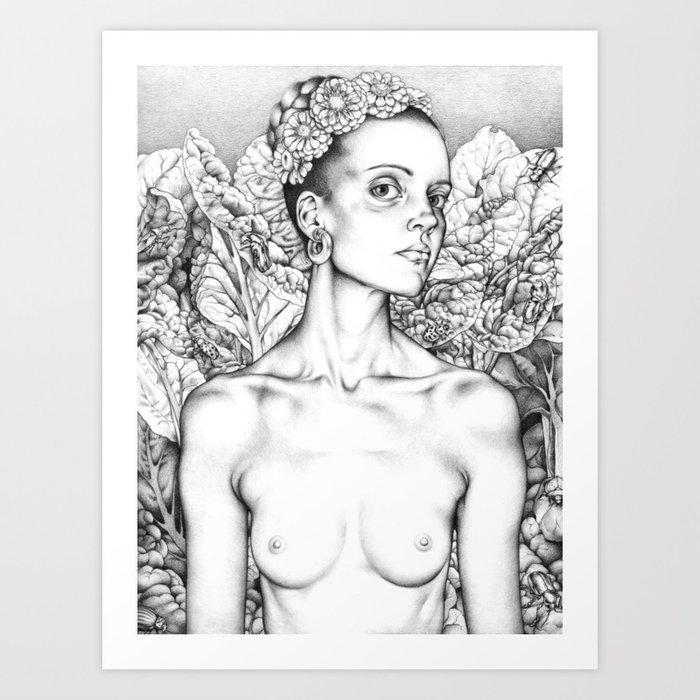Beet Queen Art Print