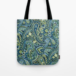 Paisley Forest Green Tote Bag