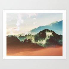 Mighty Mountain #society6 #decor #buyart Art Print
