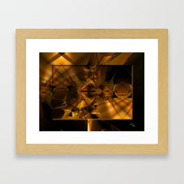 GoldBurst Framed Art Print