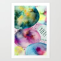 Watercolor abstract iPhone case Art Print