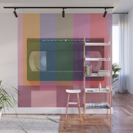 VHS_tvcolorbar_effect Wall Mural