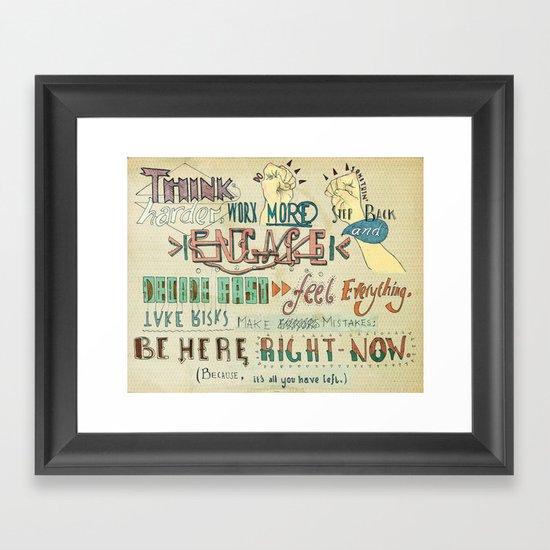 To Do Something. Framed Art Print