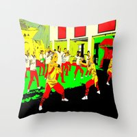 workout Throw Pillows featuring Workout by lookiz
