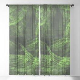 Fresh green nature Sheer Curtain