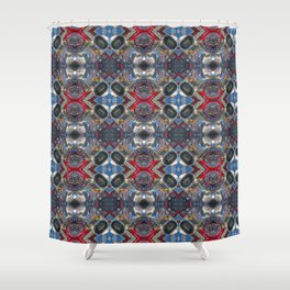 Hot Rod Engine Mandala #1 Shower Curtain
