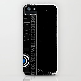 HOYWBE (halt or you will be exterminted) iPhone Case