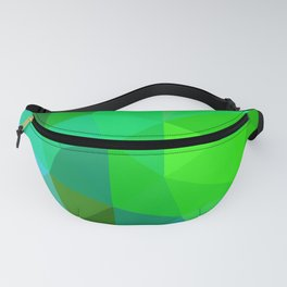 Emerald Low Poly Fanny Pack