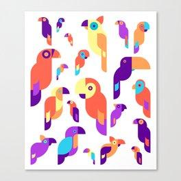 Cool Parrot Design Canvas Print