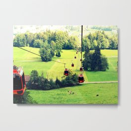 Switzerland Cable Cars Metal Print