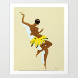 Josephine Baker dancing by Paul Colin  Art Print
