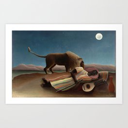The Sleeping Gypsy by Henri Rousseau Art Print