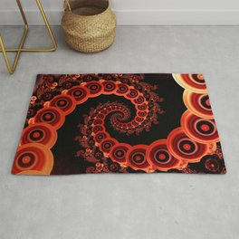 Red Octopus Tentacles for a Chinese Lantern Festival Rug