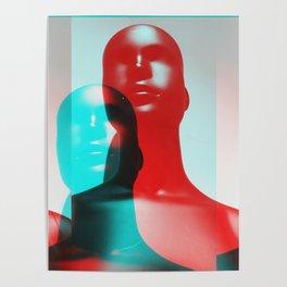sculpture, 3D, photo, black, mannequin Poster
