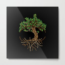 Rope Tree of Life. Rope Dojo 2017 black background Metal Print