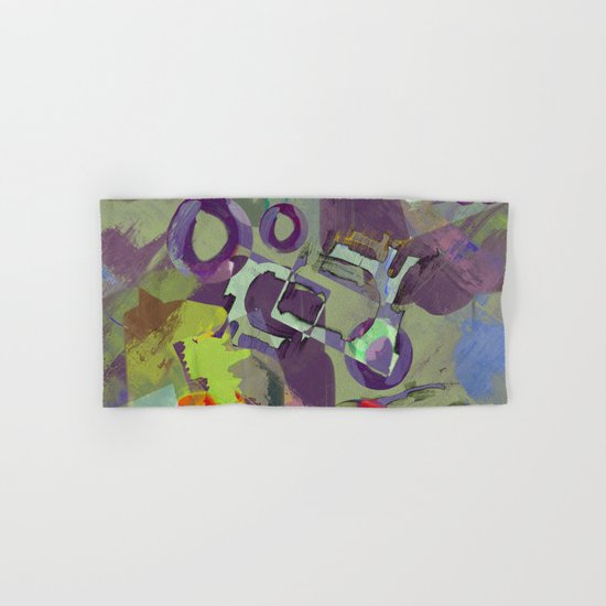 Living In A Purple Dream - Abstract, eclectic, random, purple. lilac, pastel artwork Hand & Bath Towel