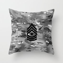 Sergeant Major (Urban Camo) Throw Pillow