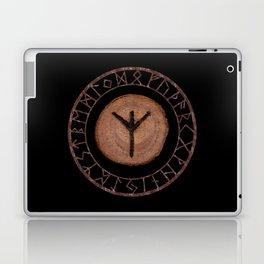 Algiz Elder Futhark Rune divinity, higher self, the state of listening, protective teaching force Laptop & iPad Skin