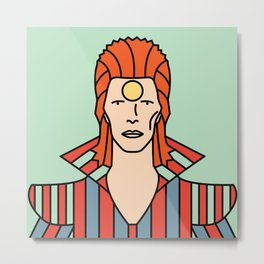 David Bowie – Ziggy Stardust Metal Print