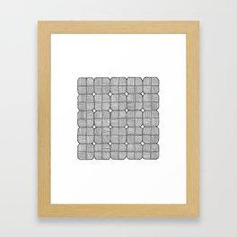 Black Squares Mosaic Framed Art Print