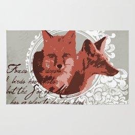 Foxes Have Dens Rug